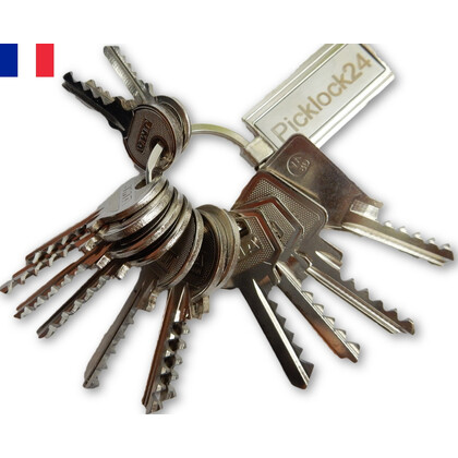 Bump key set France (14 keys)